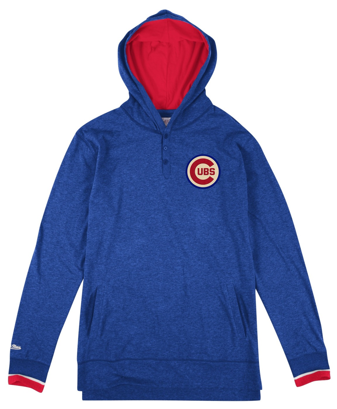 "Chicago Cubs Mitchell & Ness MLB ""Seal The Win"" Long Sleeve Hooded Men's Shirt"
