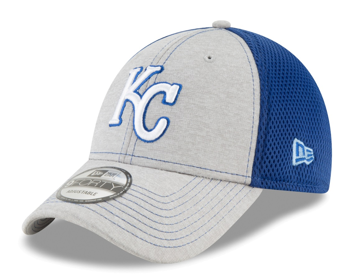 "Kansas City Royals New Era 9Forty MLB ""Shadow Turn 2"" Adjustable Hat - Gray"