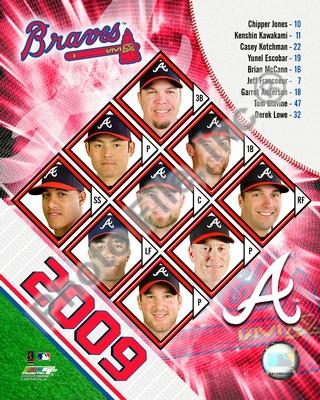 Atlanta Braves 2009 Team Composite 8x10 Photo
