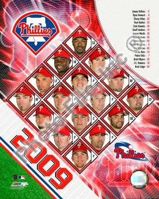 Philadelphia Phillies 2009 Team Composite 8x10 Photo