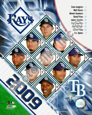 Tampa Bay Rays 2009 Team Composite 8x10 Photo