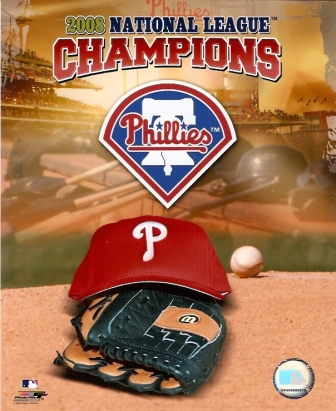 Philadelphia Phillies 2008 NL Champs Logo 8x10
