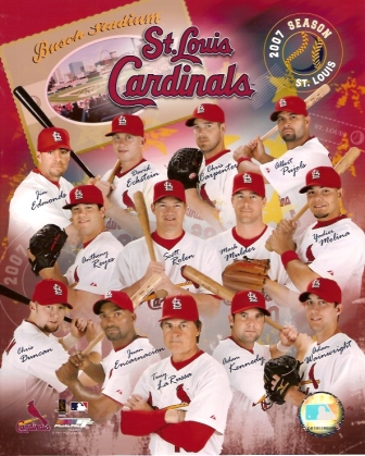 2007 St. Louis Cardinals Team 8x10 Photo