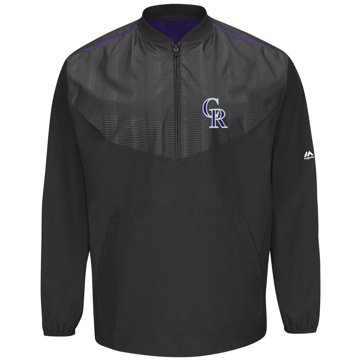 Colorado Rockies Majestic MLB Authentic Cool Base On-Field Training Jacket