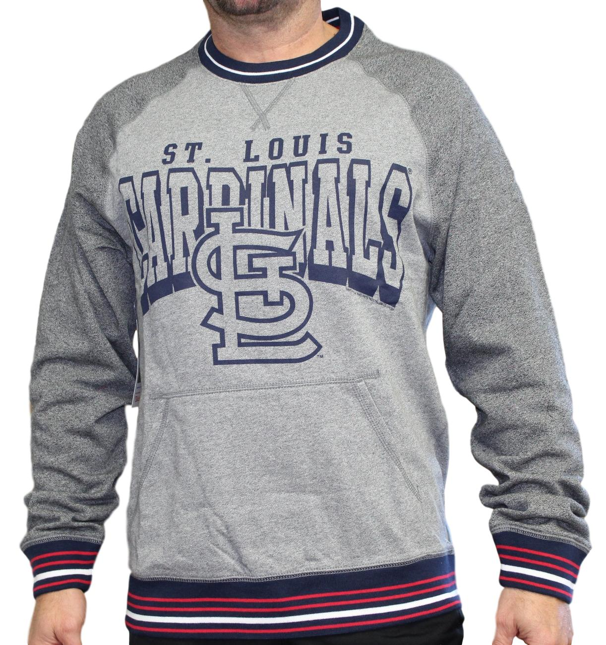 "St. Louis Cardinals Mitchell & Ness MLB ""Broad Street"" Men's Crew Sweatshirt"