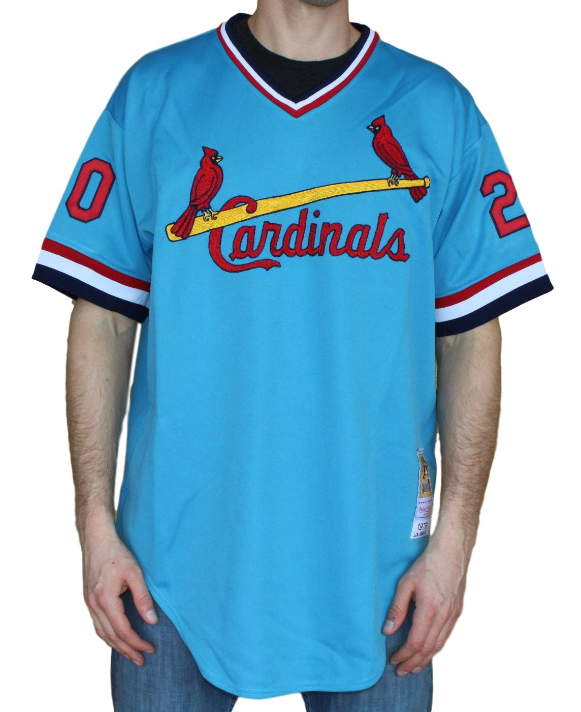 Lou Brock St. Louis Cardinals Mitchell & Ness MLB Authentic 1979 Jersey