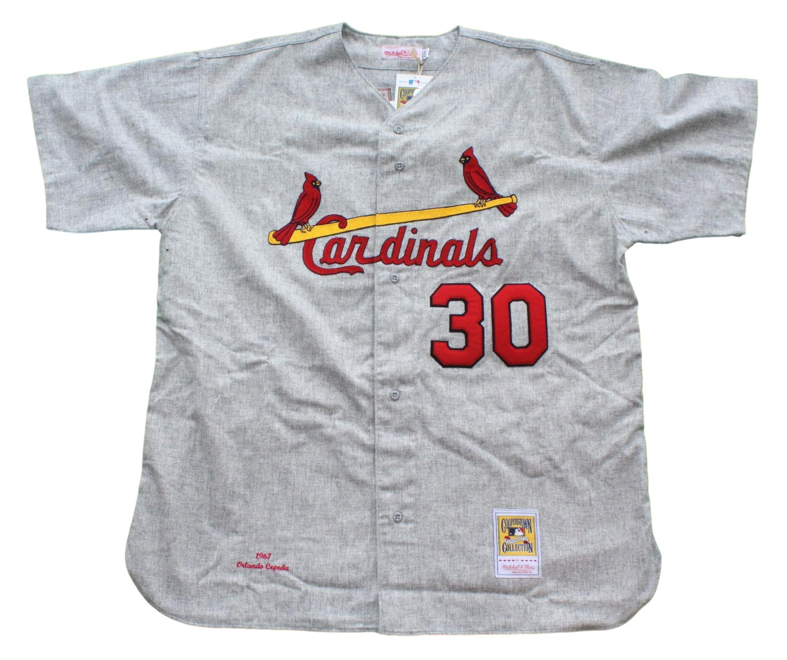 Orlando Cepeda St. Louis Cardinals Mitchell & Ness Authentic 1967 Jersey - Gray