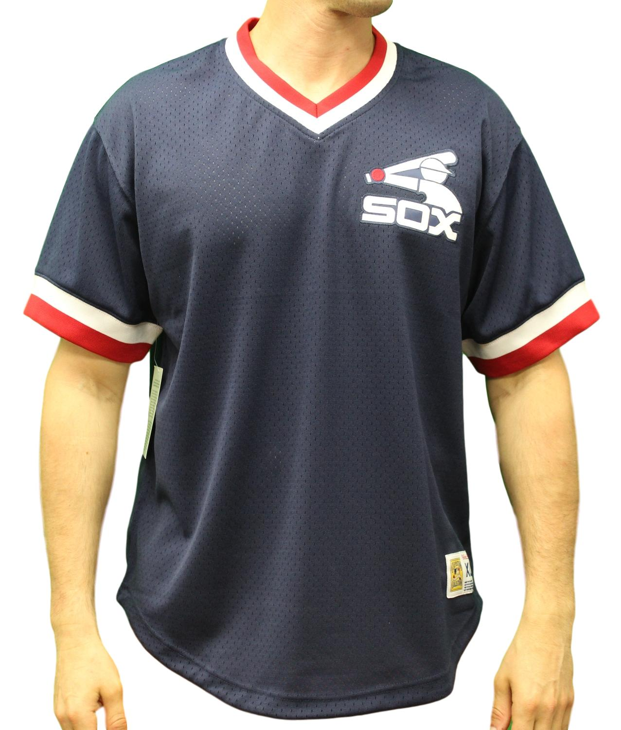 "Chicago White Sox Mitchell & Ness MLB Men's ""Game Winner"" Mesh Jersey Shirt"