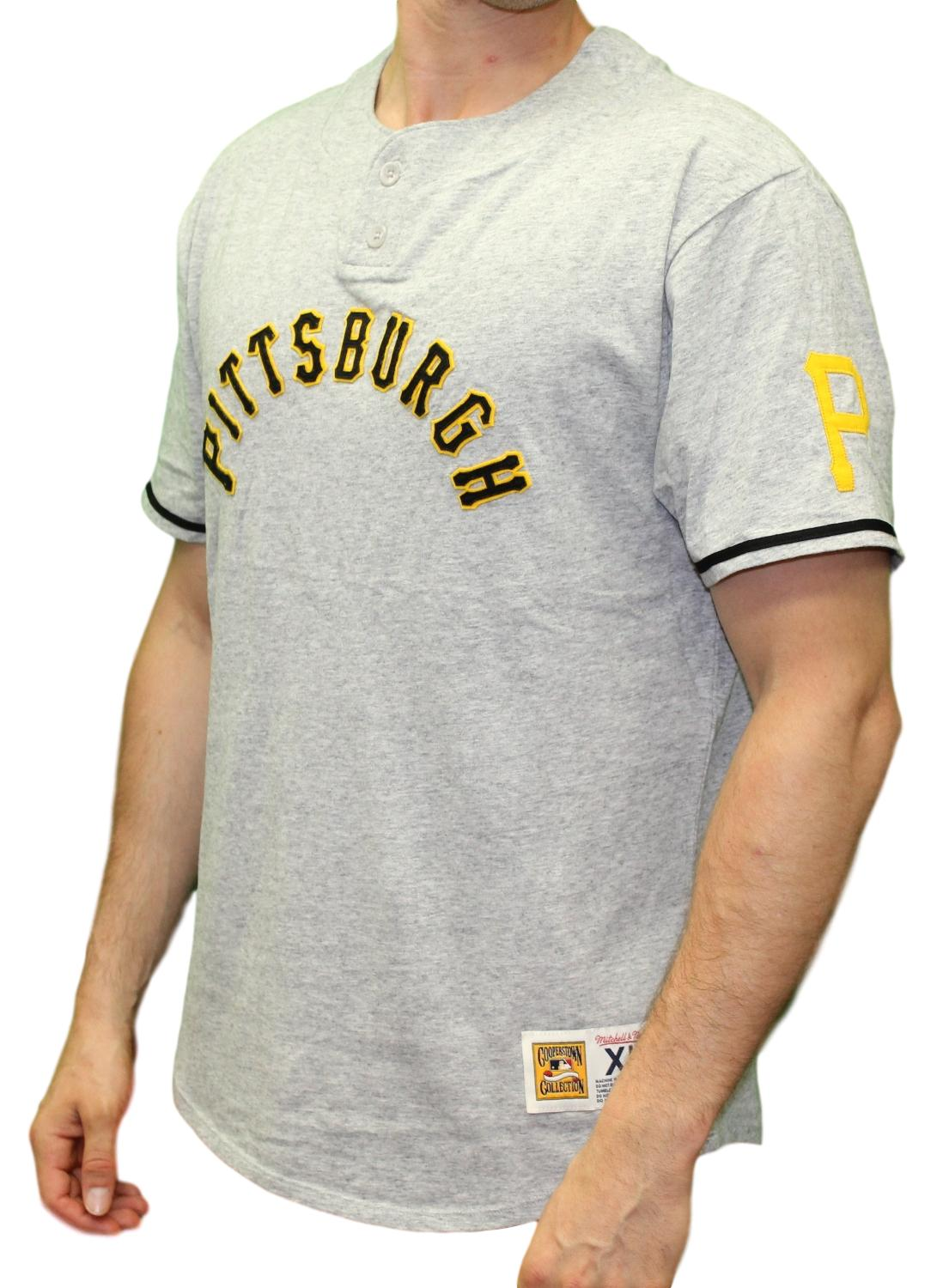 "Pittsburgh Pirates Mitchell & Ness MLB ""The Victory"" Short Sleeve Henley Shirt"