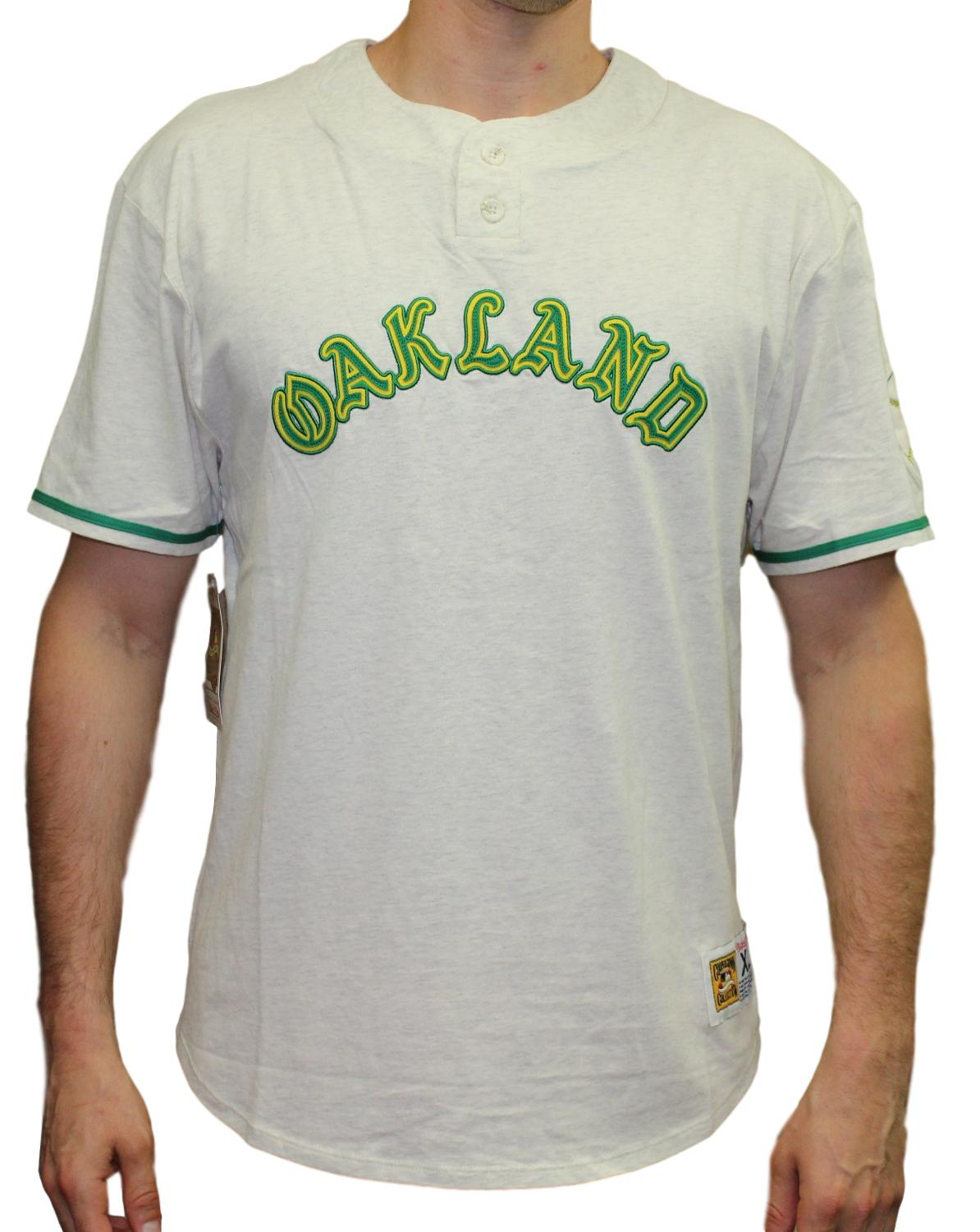 "Oakland Athletics Mitchell & Ness MLB ""The Victory"" Short Sleeve Henley Shirt"