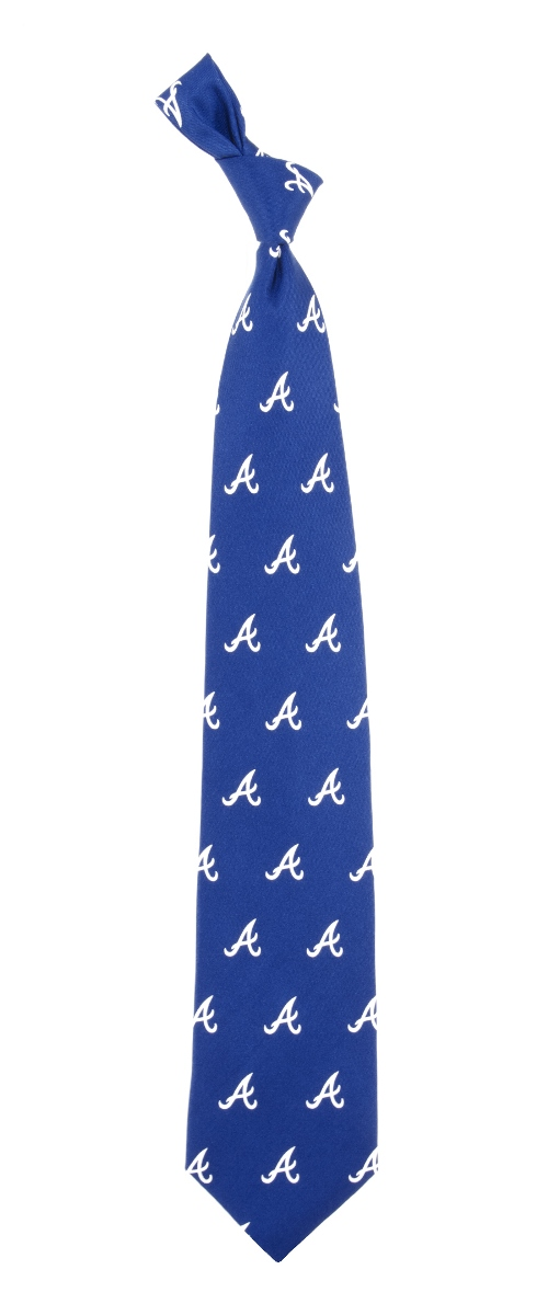 "Atlanta Braves MLB ""Prep"" Men's Print Silk Tie"