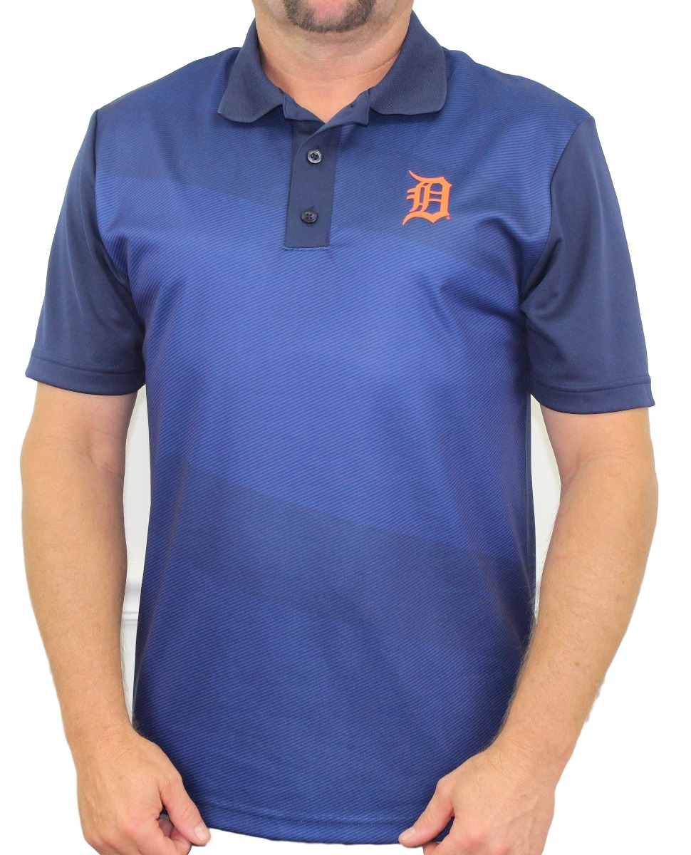 "Detroit Tigers Majestic MLB ""Late Night Prize"" Men's Performance Polo Shirt"