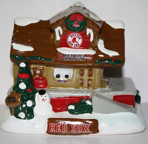 Boston Red Sox 2012 Tabletop Holiday Village Train Station