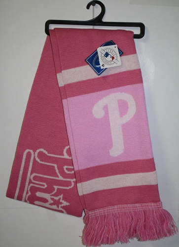 Philadelphia Phillies 2012 Ladies Pink Team Stripe Knit Scarf