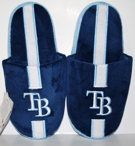 Tampa Bay Rays MLB Team Stripe Slide Slippers