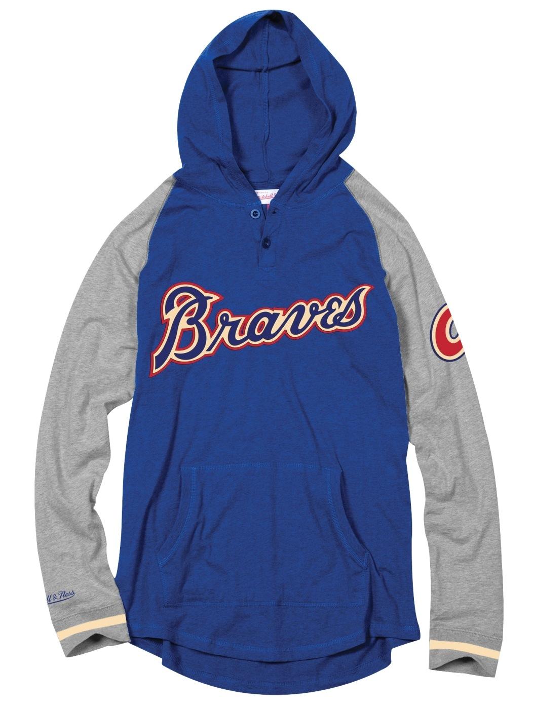 "Atlanta Braves Mitchell & Ness MLB Men's ""Slugfest"" Lightweight Hooded Shirt"