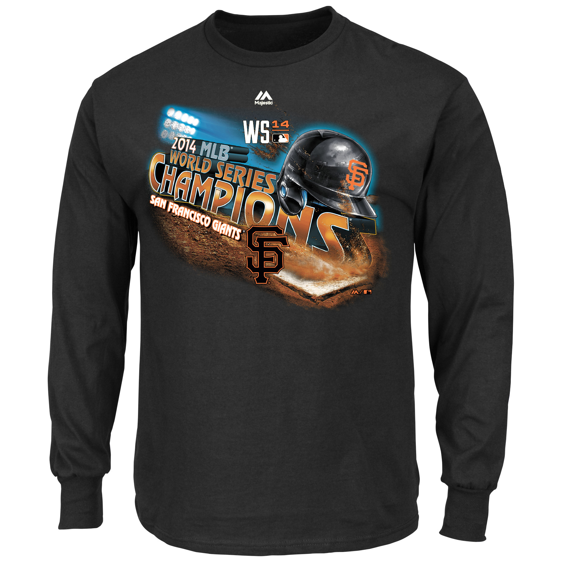 San Francisco Giants Majestic 2014 World Series Champions Pride L/S Mens T-Shirt