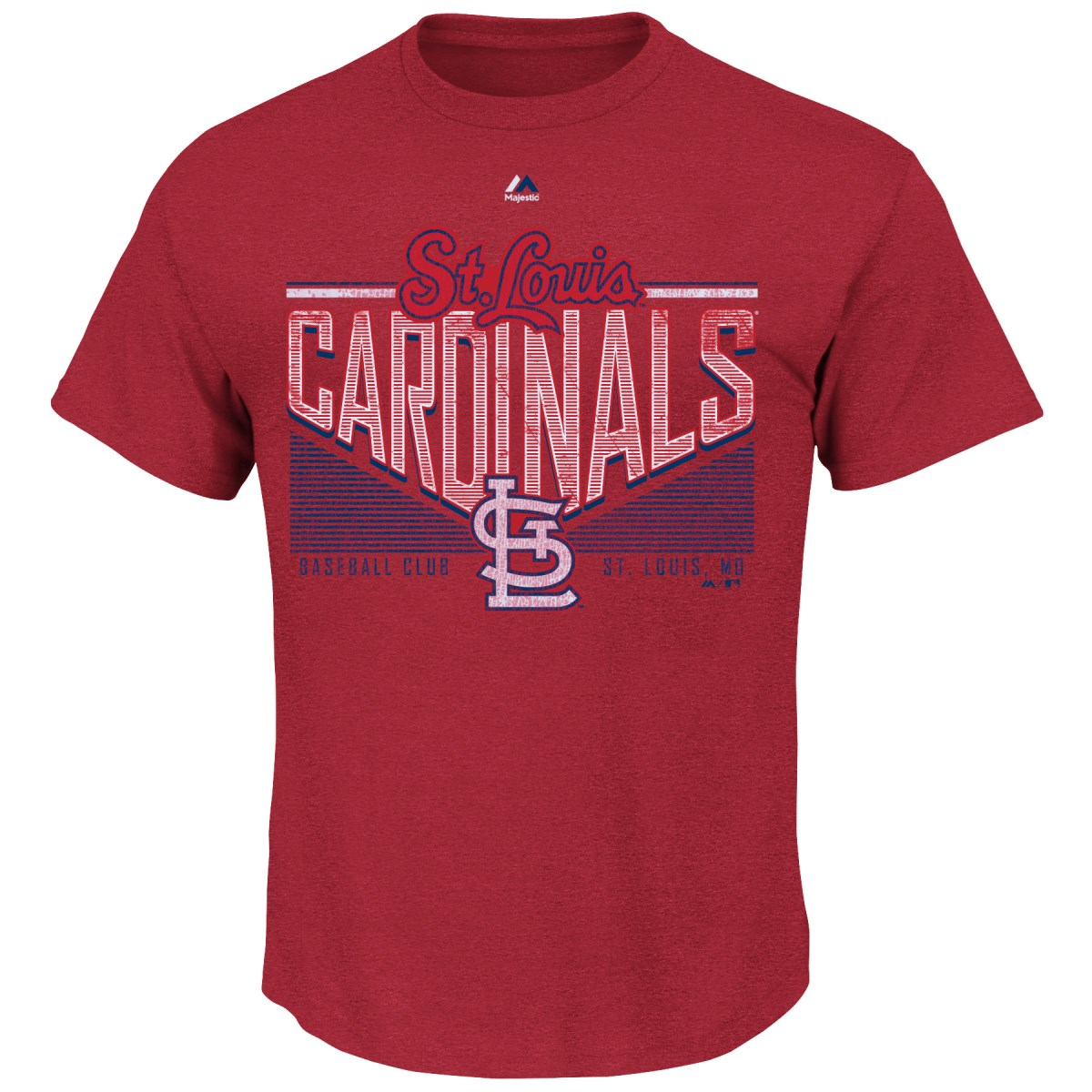 "St. Louis Cardinals Majestic MLB ""Fast Breakin"" Short Sleeve Men's T-Shirt"