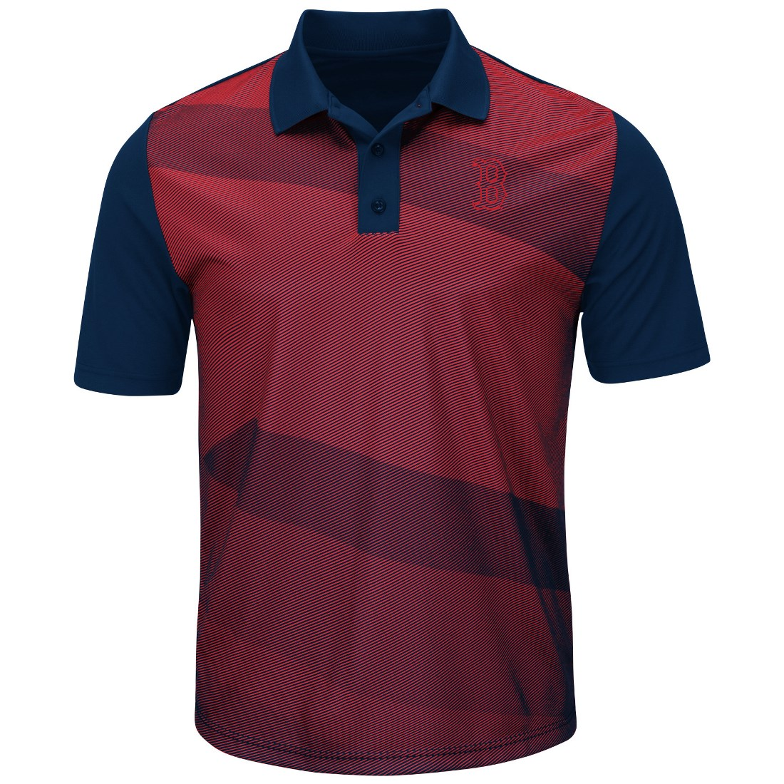 "Boston Red Sox Majestic MLB ""Late Night Prize"" Men's Performance Polo Shirt"