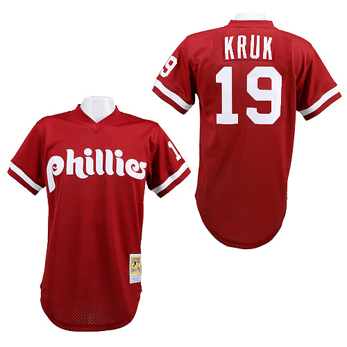John Kruk Philadelphia Phillies Mitchell & Ness Authentic 1991 Batting Practice Jersey