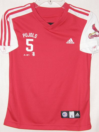 Albert Pujols Adidas Youth St. Louis Cardinals Performance Player T-Shirt