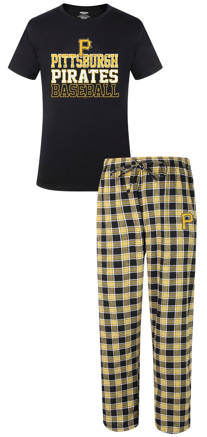 "Pittsburgh Pirates MLB ""Medalist"" Men's T-shirt & Flannel Pajama Pants Sleep Set"