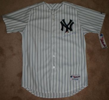 Johnny Damon Signed New York Yankees p/s Jersey