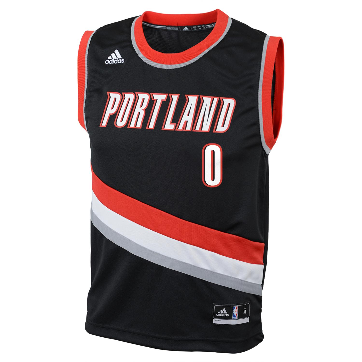 Damian Lillard Portland Trail Blazers Adidas NBA Replica Youth Jersey - Black