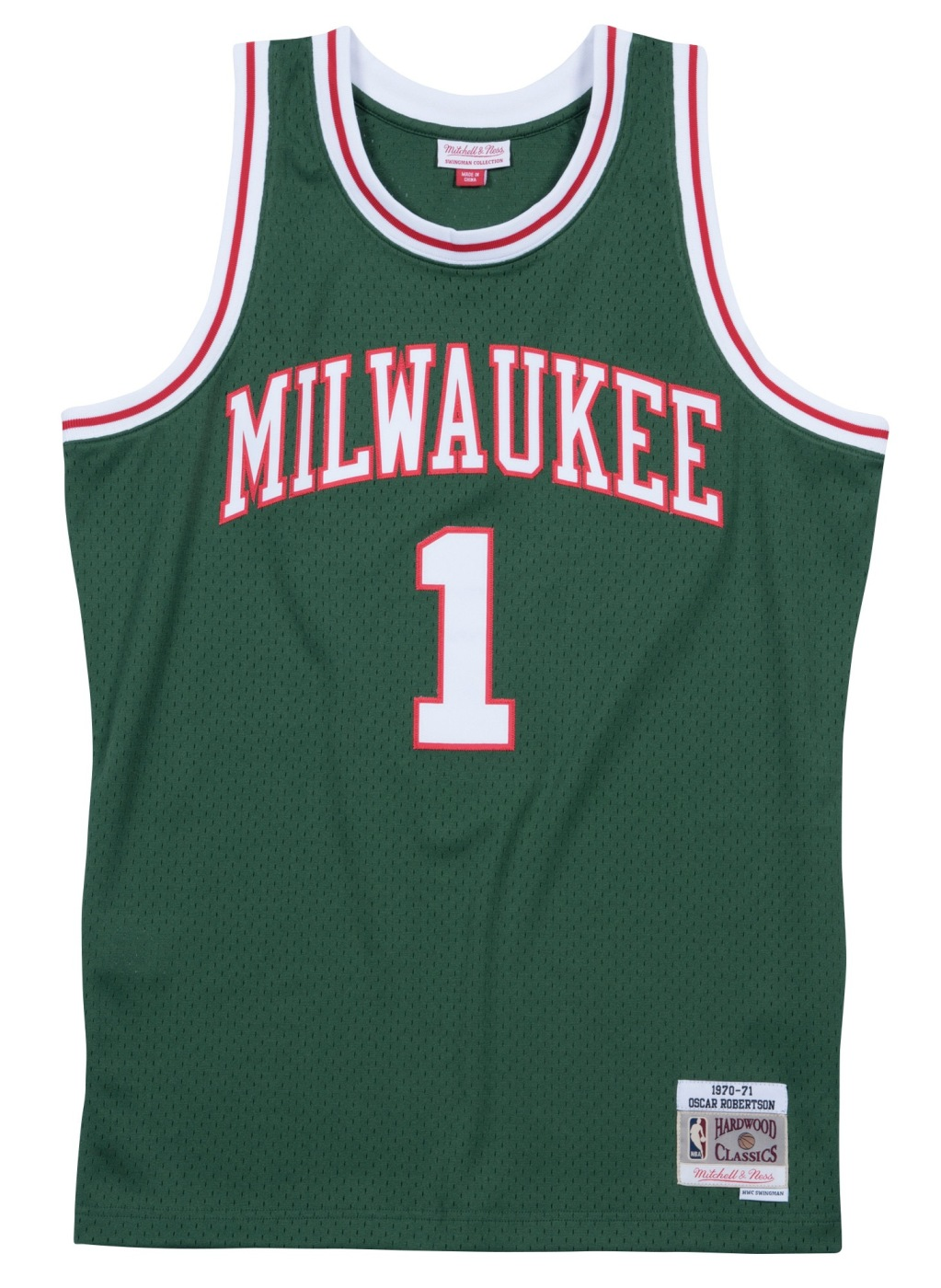 Oscar Robertson Milwaukee Bucks Mitchell & Ness NBA Swingman HWC Jersey - Green