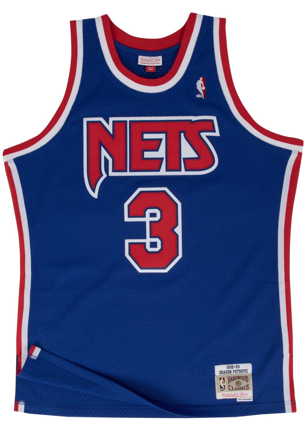 Drazen Petrovic New Jersey Nets Mitchell & Ness NBA Swingman 92-93 Jersey - Blue