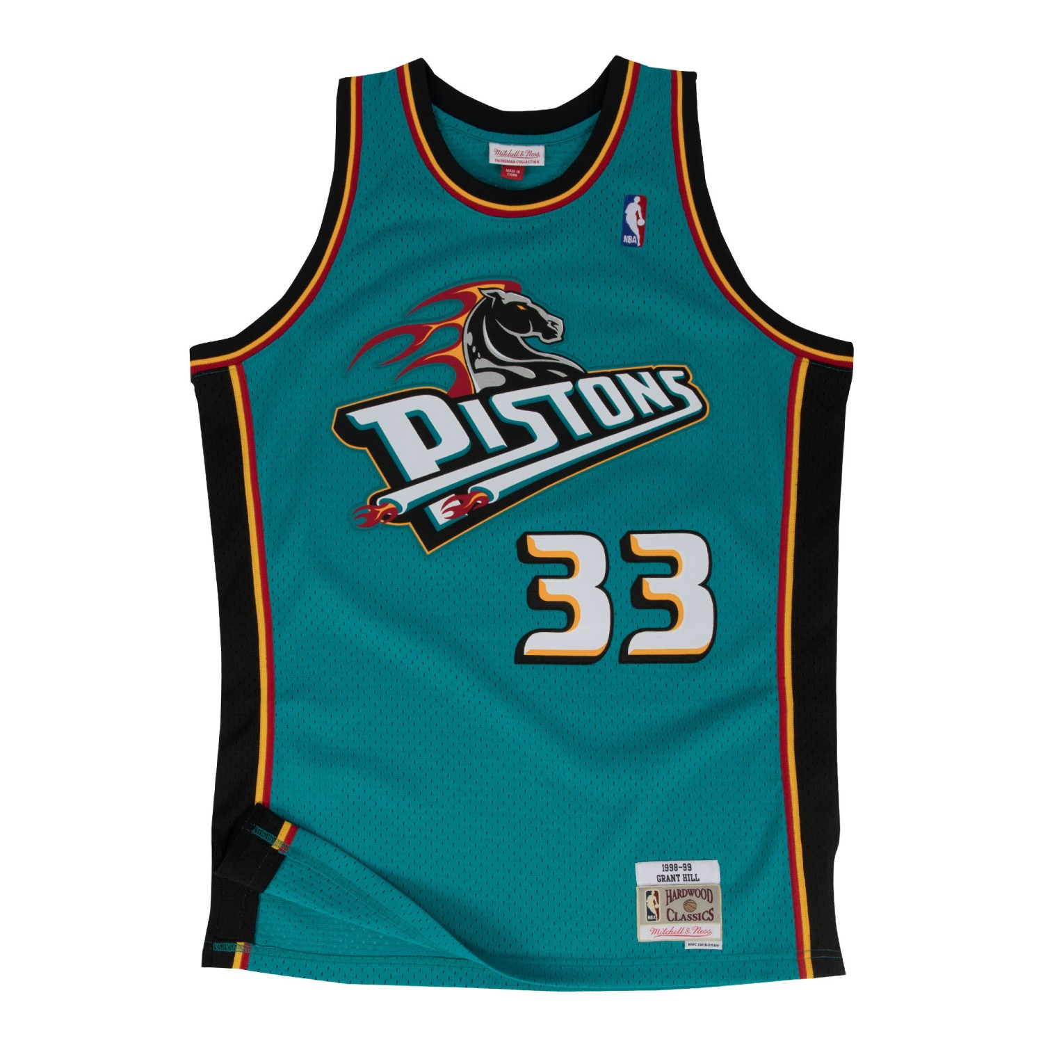 Grant Hill Detroit Pistons Mitchell & Ness NBA Throwback Jersey - Teal