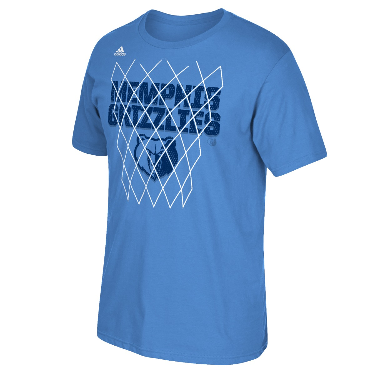"Memphis Grizzlies Adidas NBA ""Net Up"" Men's Short Sleeve T-Shirt"