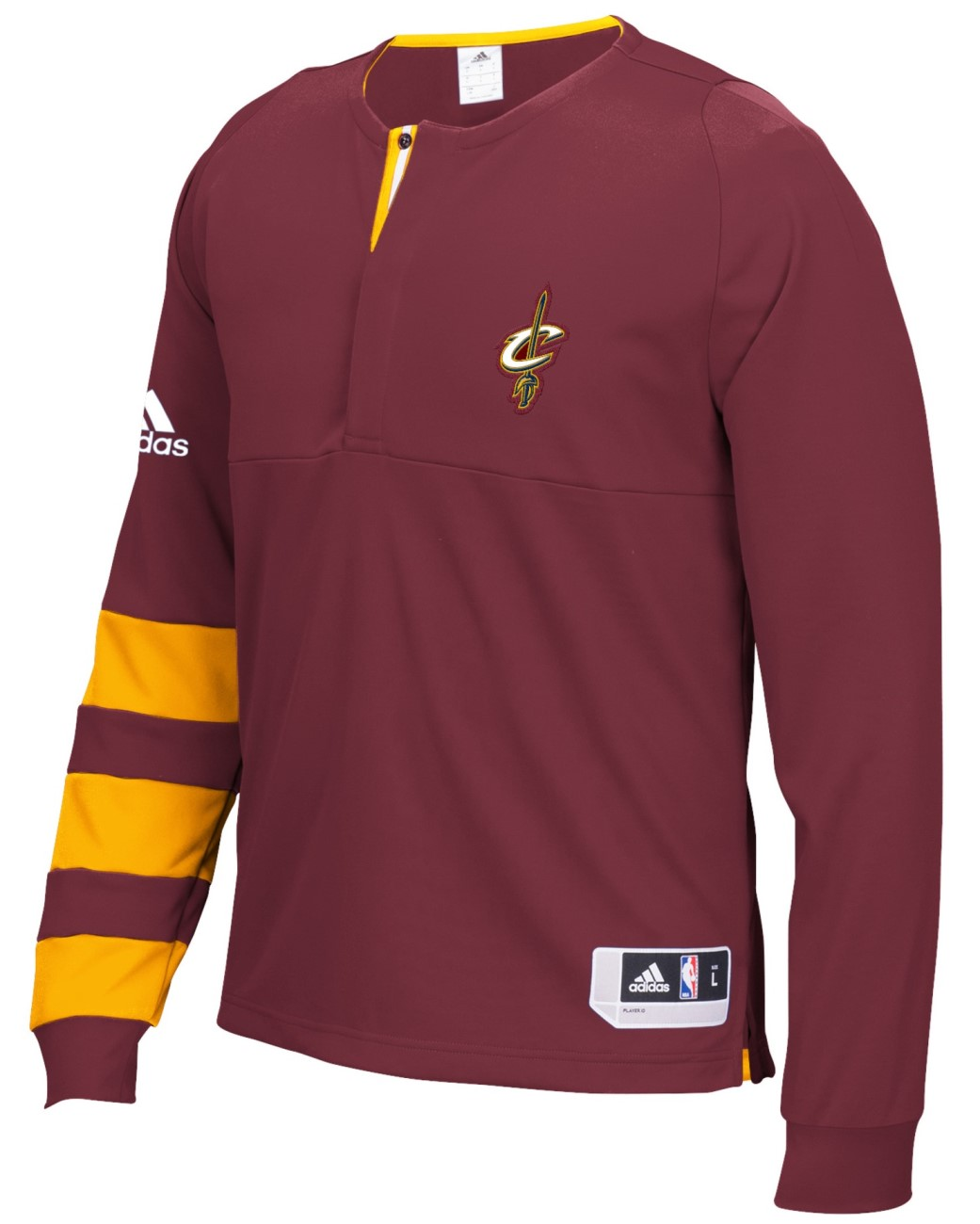 Cleveland Cavaliers Adidas 2016 NBA Men's On-Court Authentic L/S Shooting Shirt