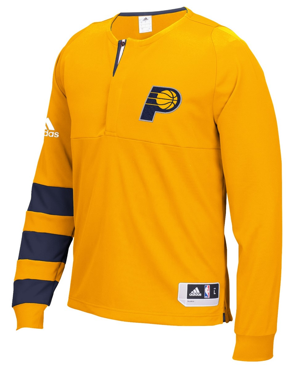 Indiana Pacers Adidas 2016 NBA Men's On-Court Authentic L/S Shooting Shirt