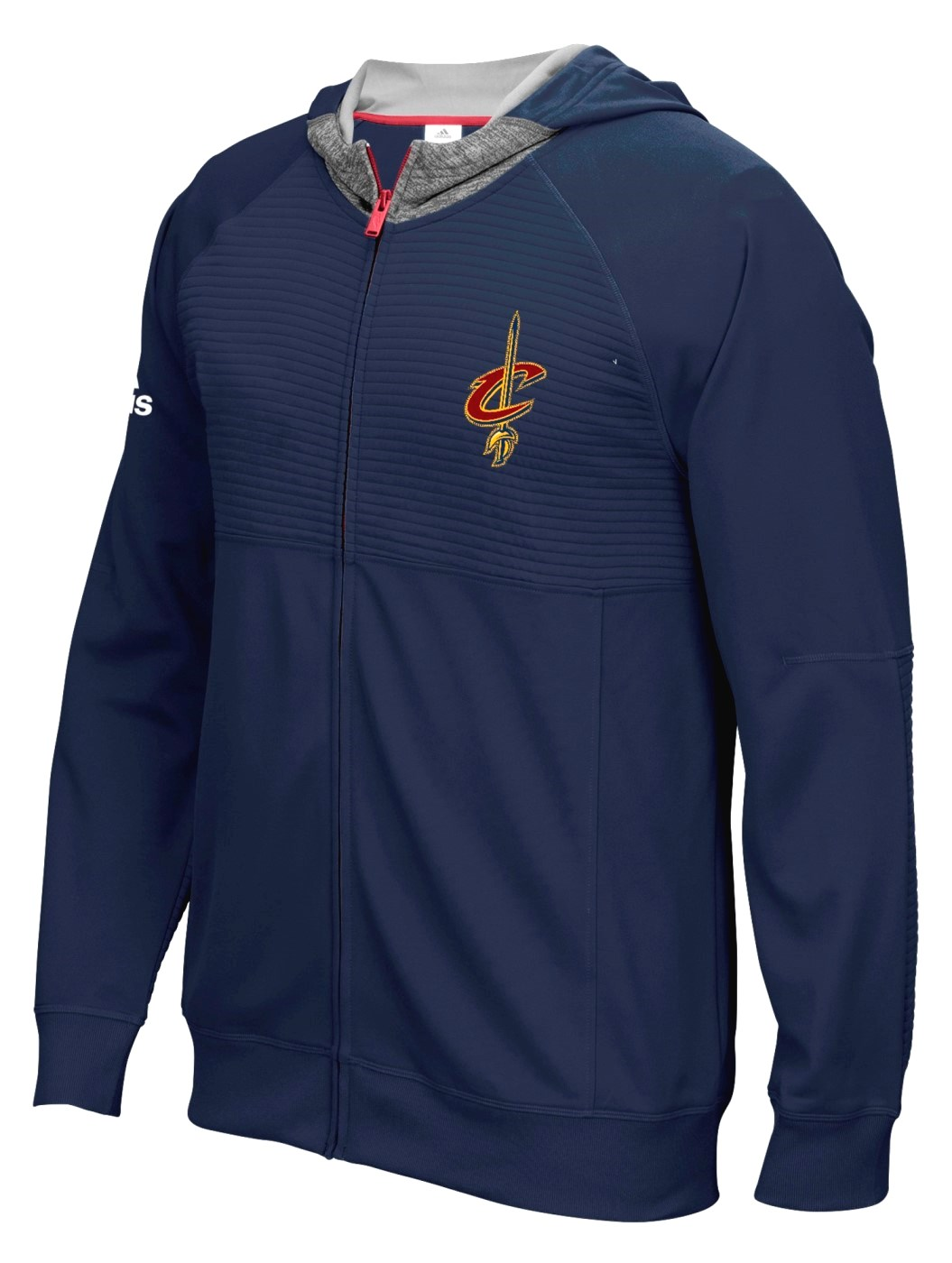 "Cleveland Cavaliers Adidas 2016 NBA On-Court ""Pre-Game"" Full Zip Hooded Jacket"