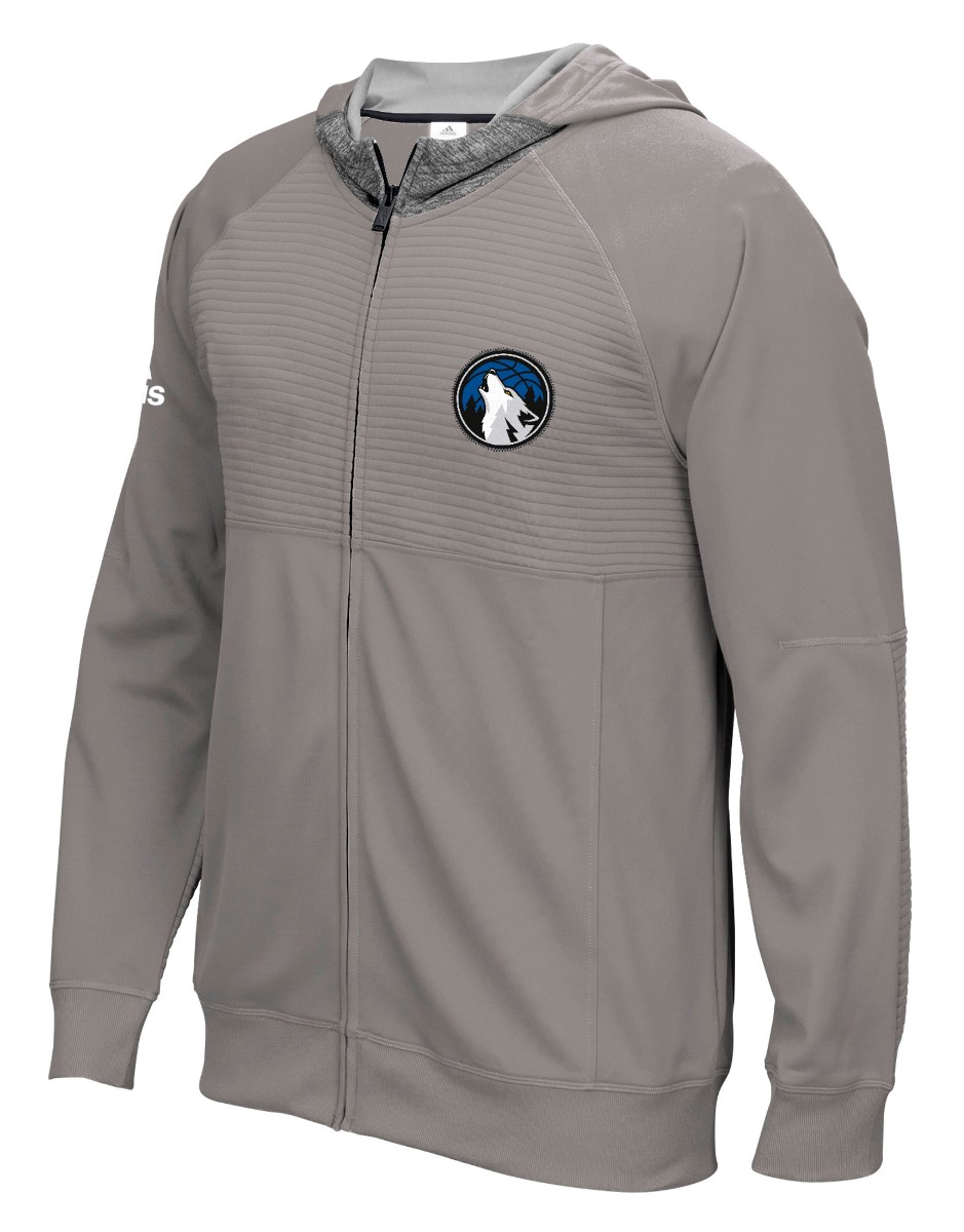 Minnesota Timberwolves Adidas 2016 NBA Men's On-Court Pre-Game F/Z Hooded Jacket