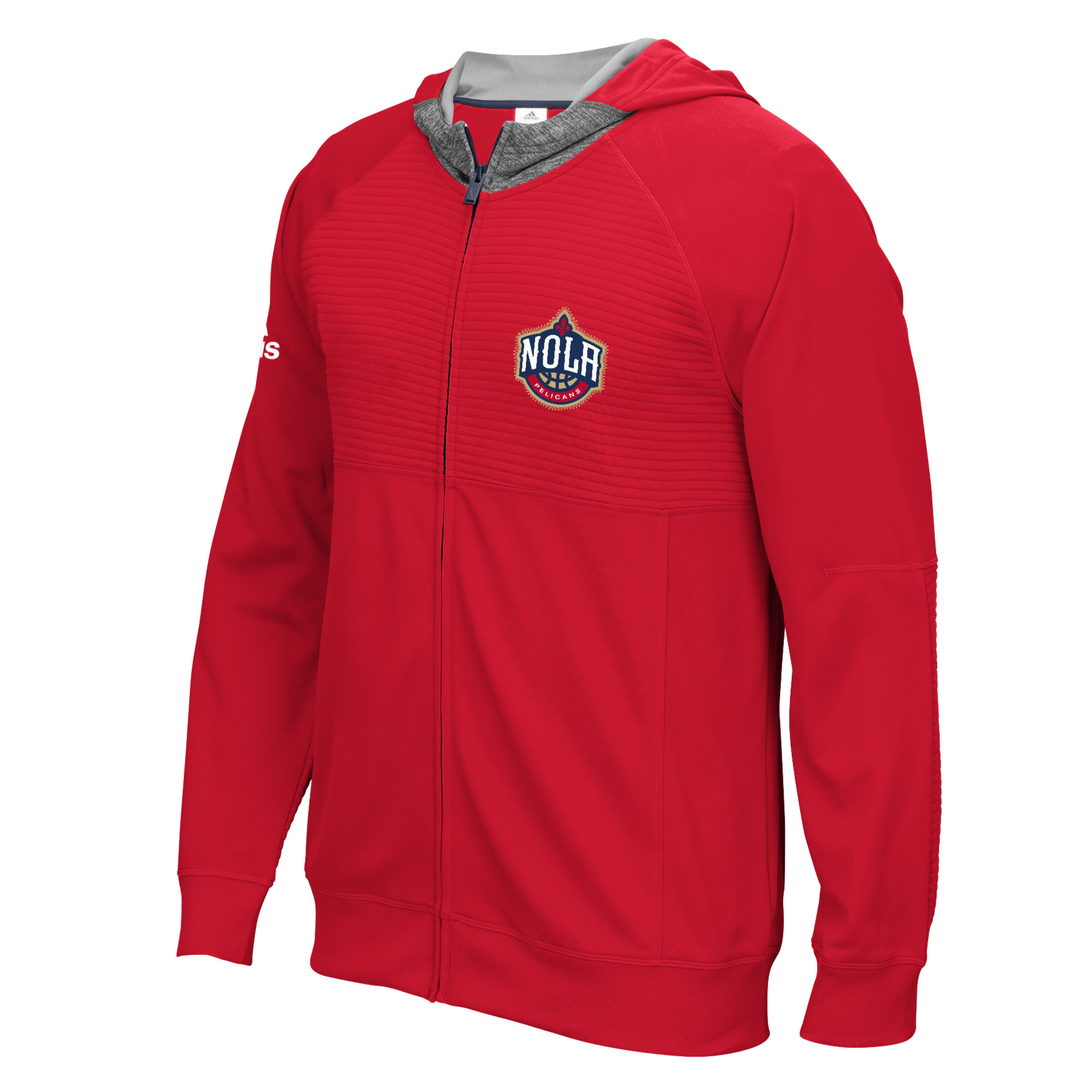 "New Orleans Pelicans Adidas 2016 NBA Men's On-Court ""Pre-Game"" F/Z Hooded Jacket"