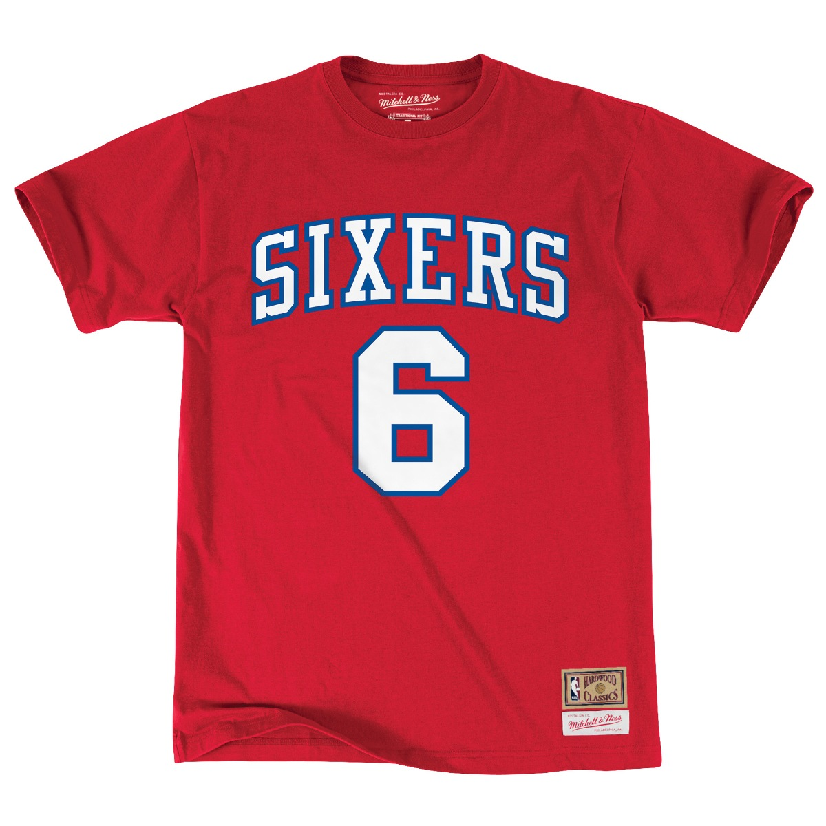 "Julius Erving Philadelphia 76ers Mitchell & Ness NBA Men's ""Player"" S/S T-Shirt"