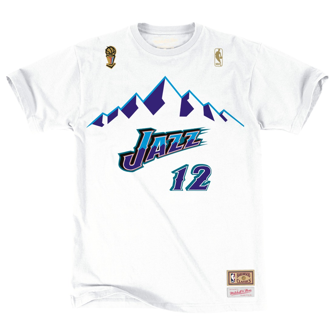 "John Stockton Utah Jazz Mitchell & Ness NBA Men's ""Player"" S/S T-Shirt"