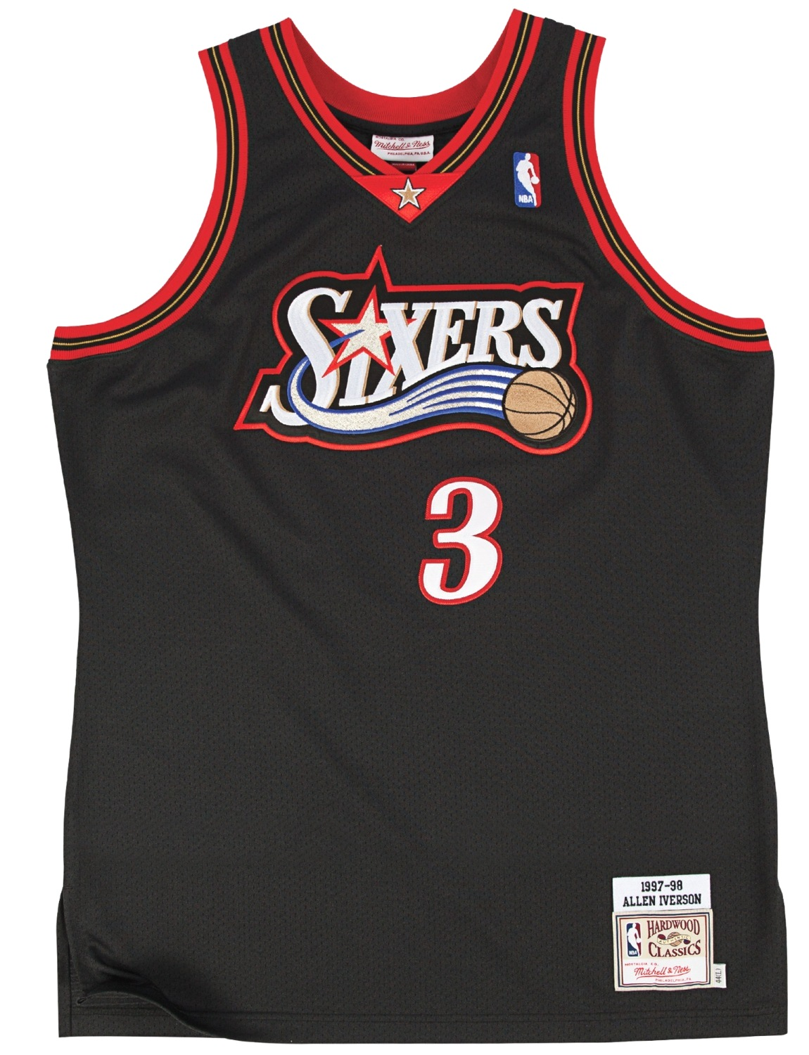 Allen Iverson Philadelphia 76ers Mitchell & Ness Authentic 1997-98 NBA Jersey