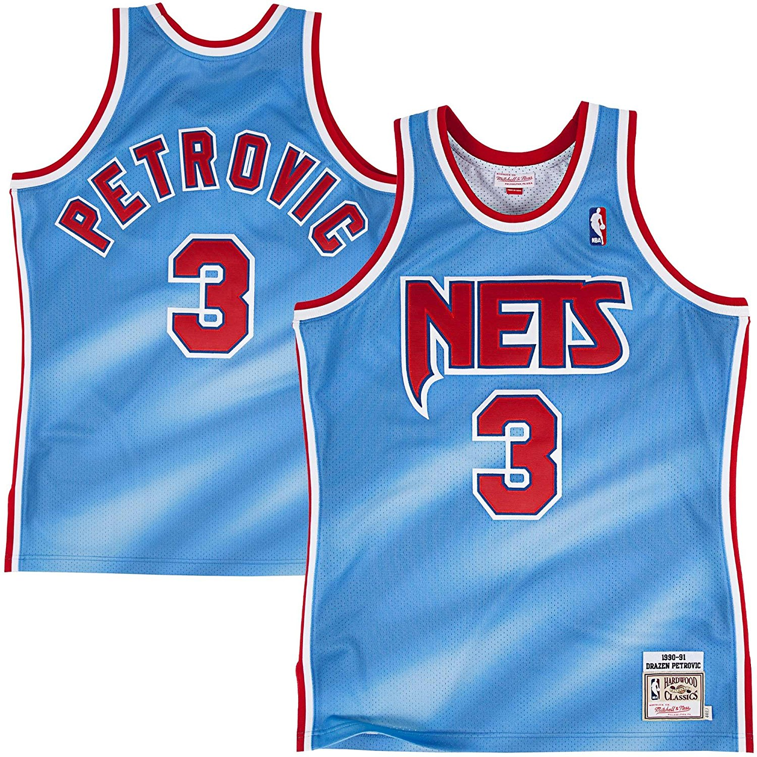 Drazen Petrovic New Jersey Nets Mitchell & Ness Authentic 1990-91 NBA Jersey