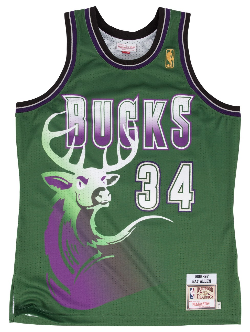 Ray Allen Milwaukee Bucks Mitchell & Ness Authentic 1996 Road NBA Jersey