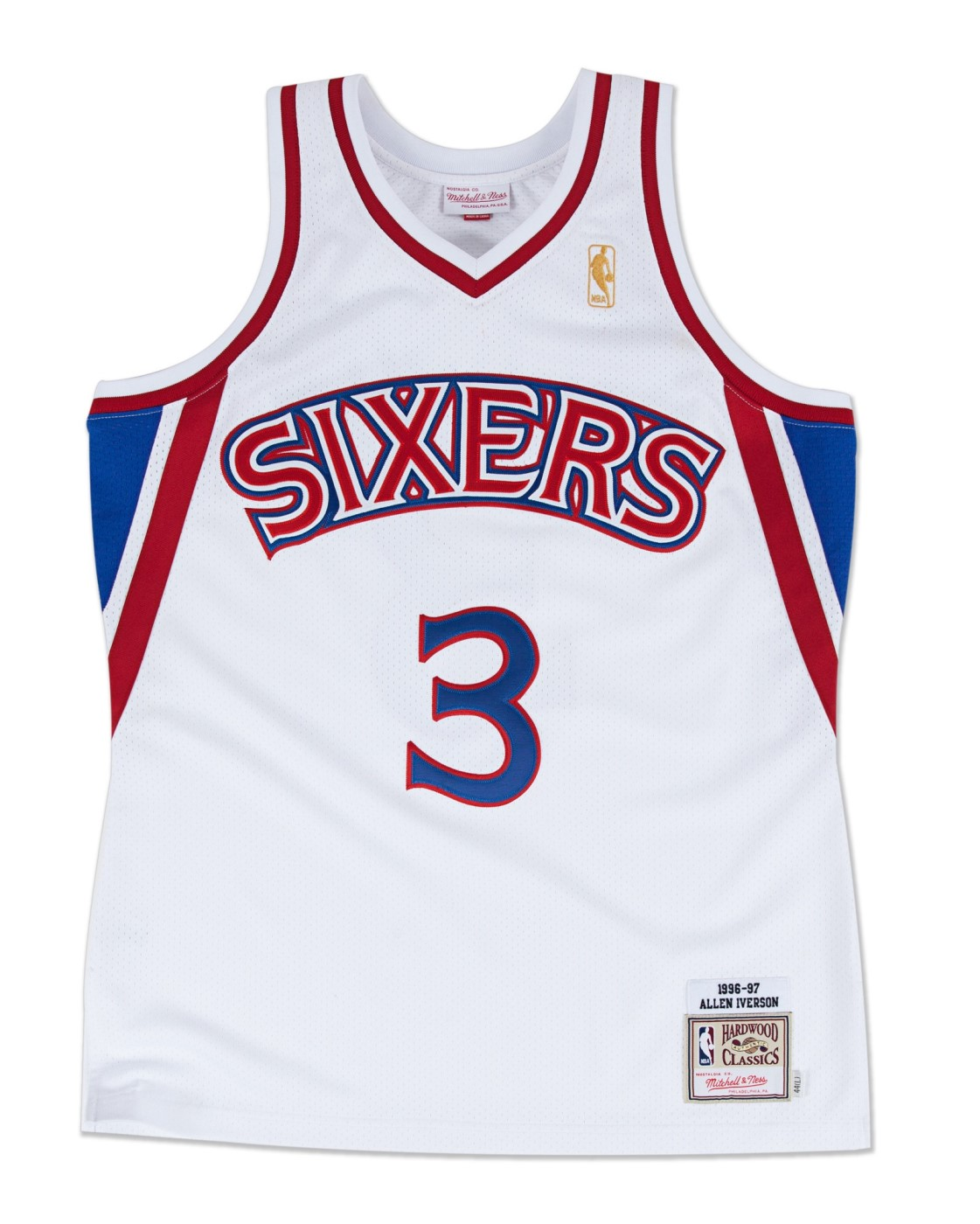 Allen Iverson Philadelphia 76ers Mitchell & Ness Authentic 1996 Home NBA Jersey