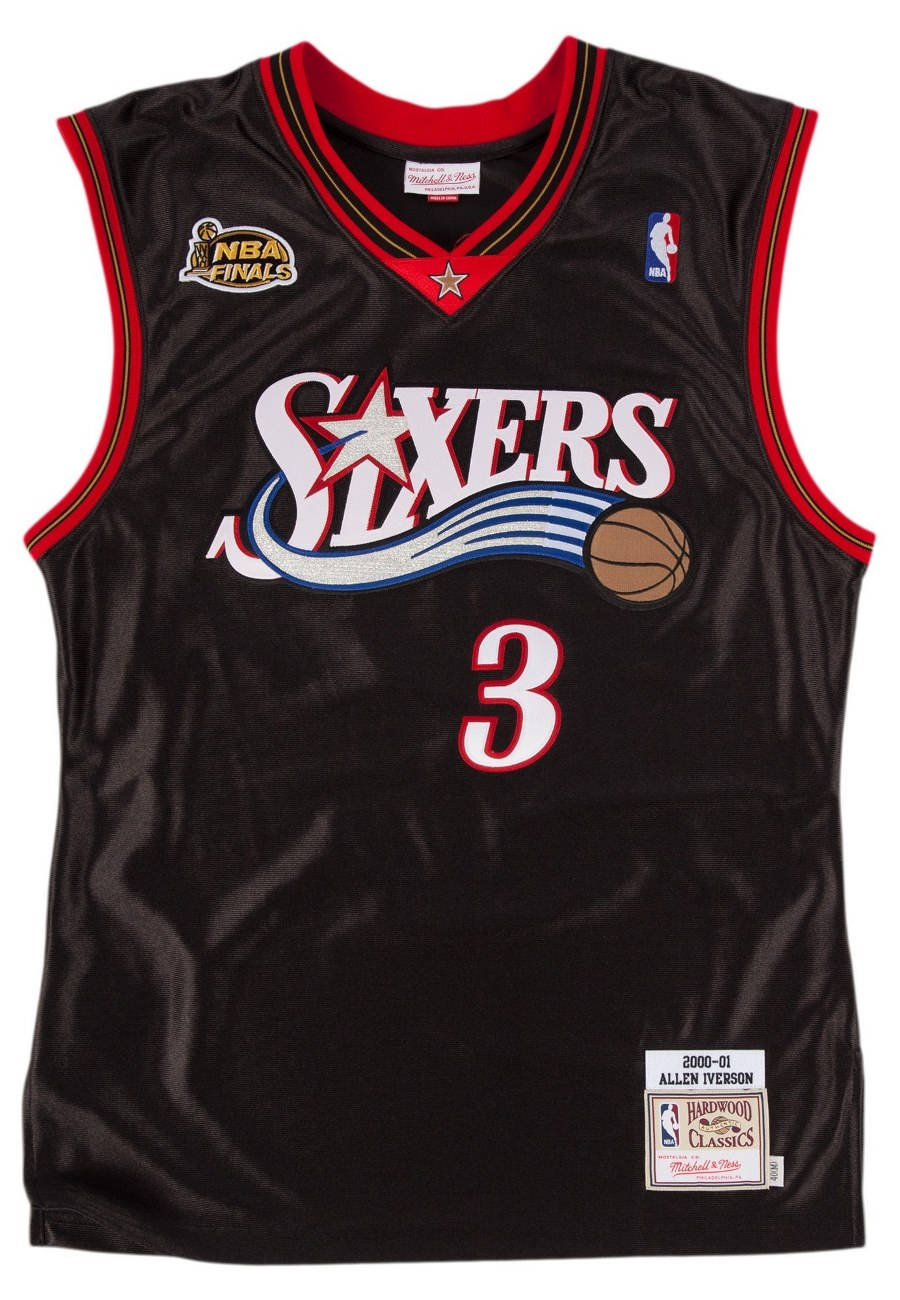 Allen Iverson Philadelphia 76ers Mitchell & Ness Authentic 2000 Black NBA Jersey