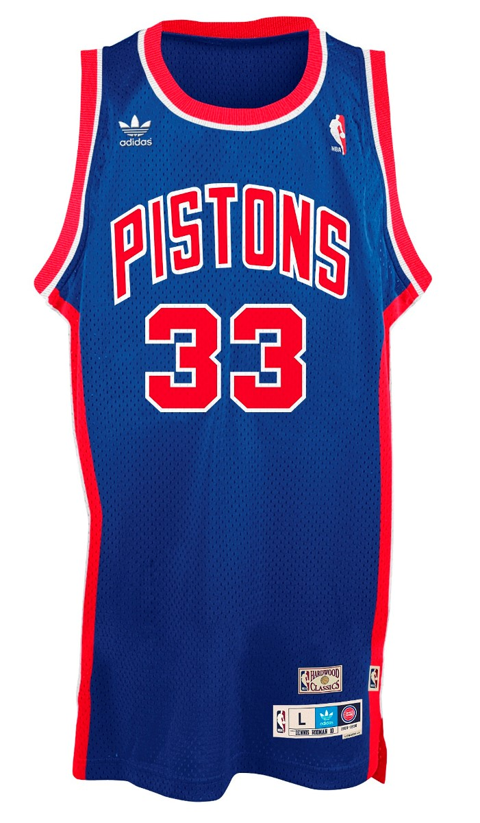 Grant Hill Detroit Pistons Adidas NBA Throwback Swingman Jersey - Blue