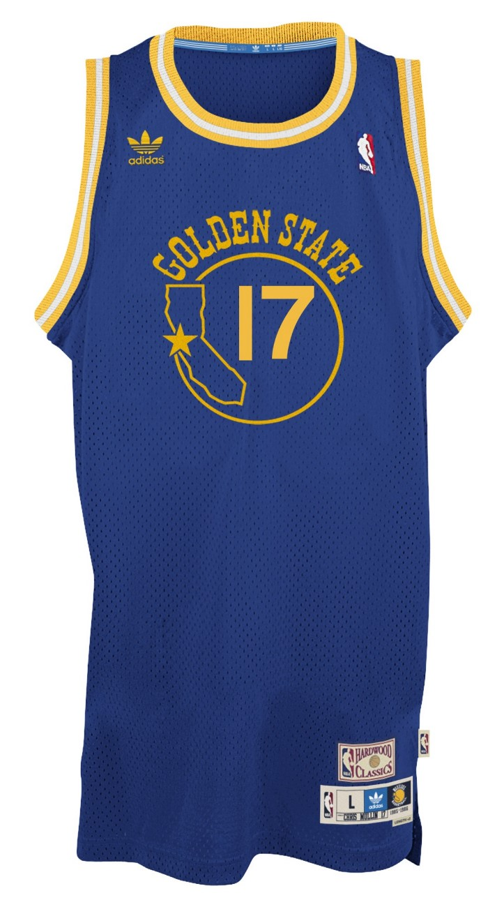 Chris Mullin Golden State Warriors Adidas NBA Throwback Swingman Jersey - Blue