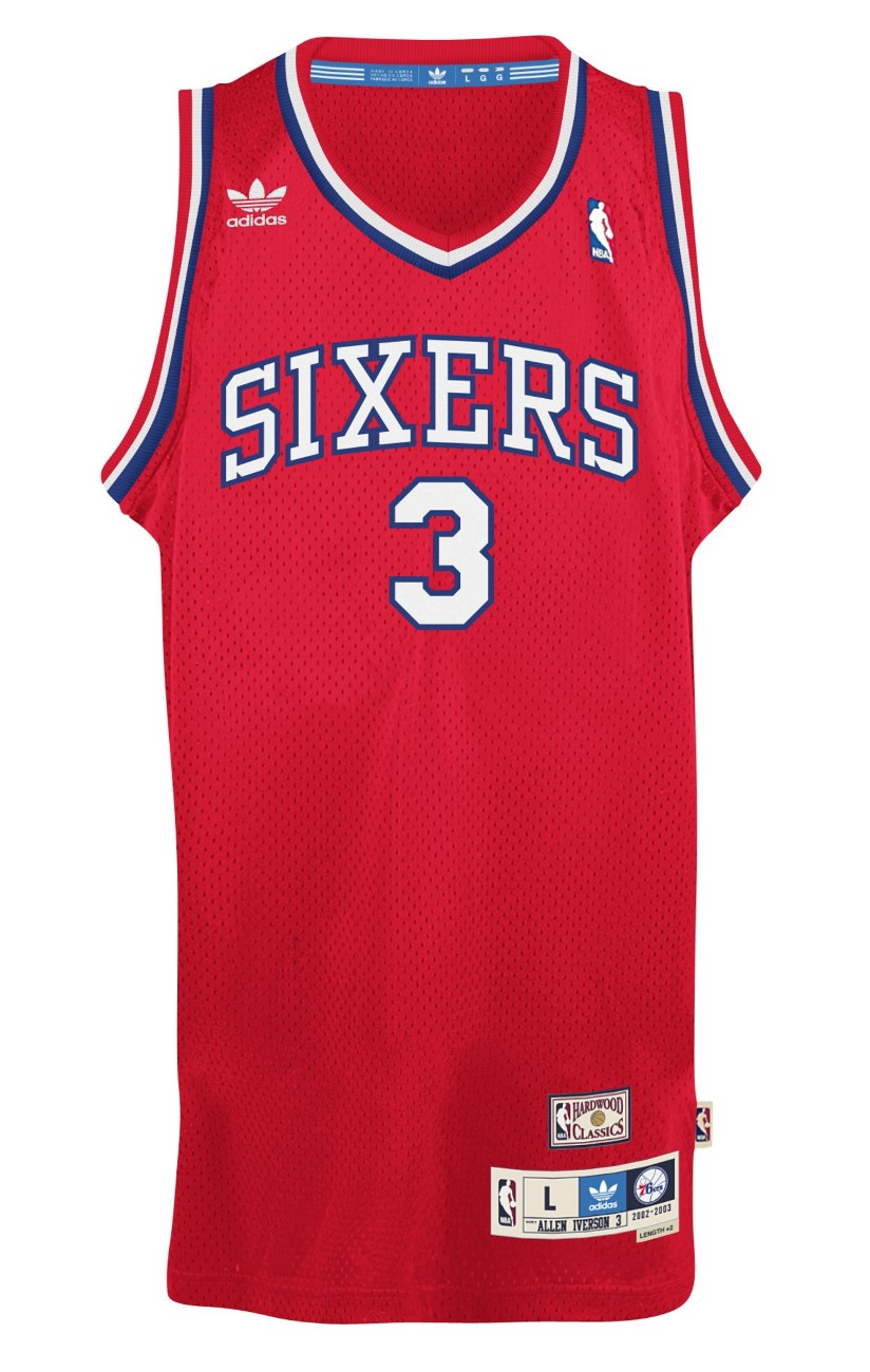 "Allen Iverson Philadelphia 76ers Adidas Throwback ""The Answer"" Swingman Jersey"