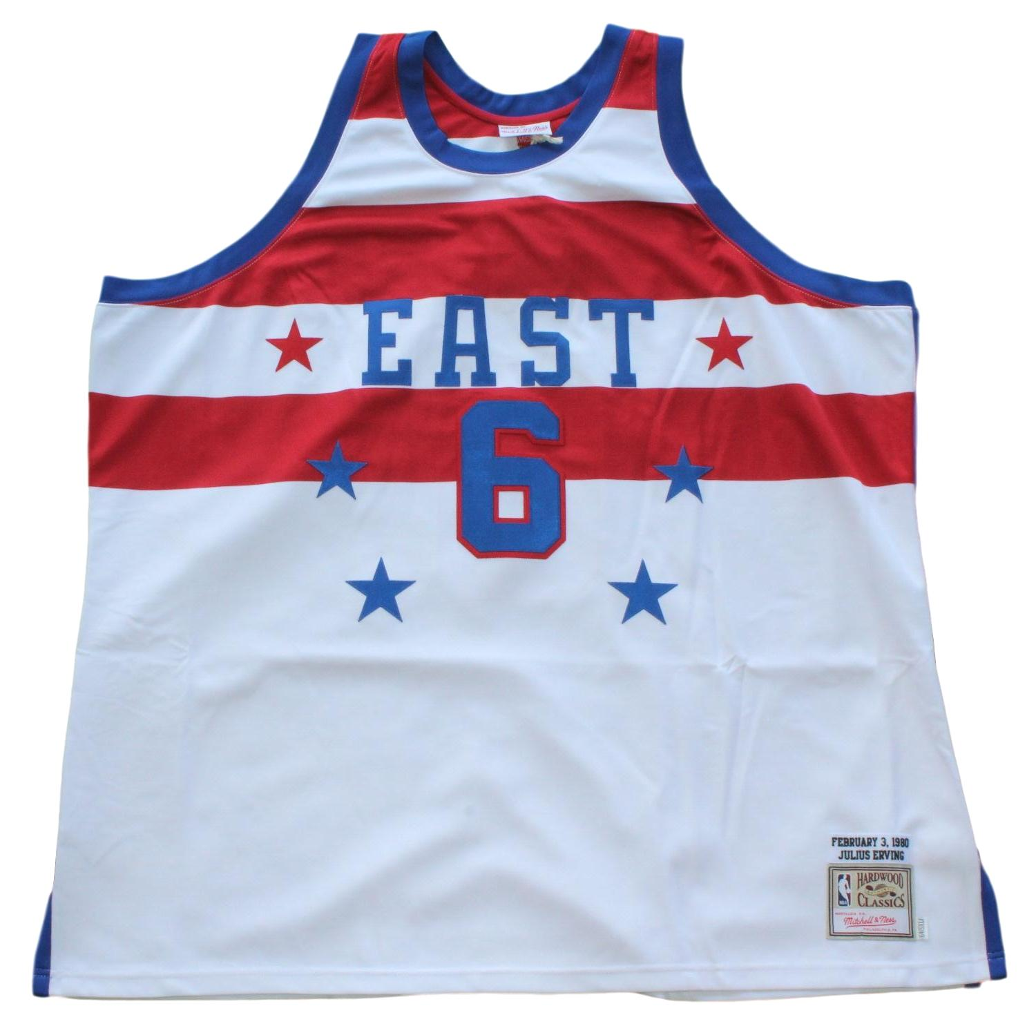 Julius Erving 76ers Mitchell & Ness Authentic 1980 NBA All Star East Jersey -5XL