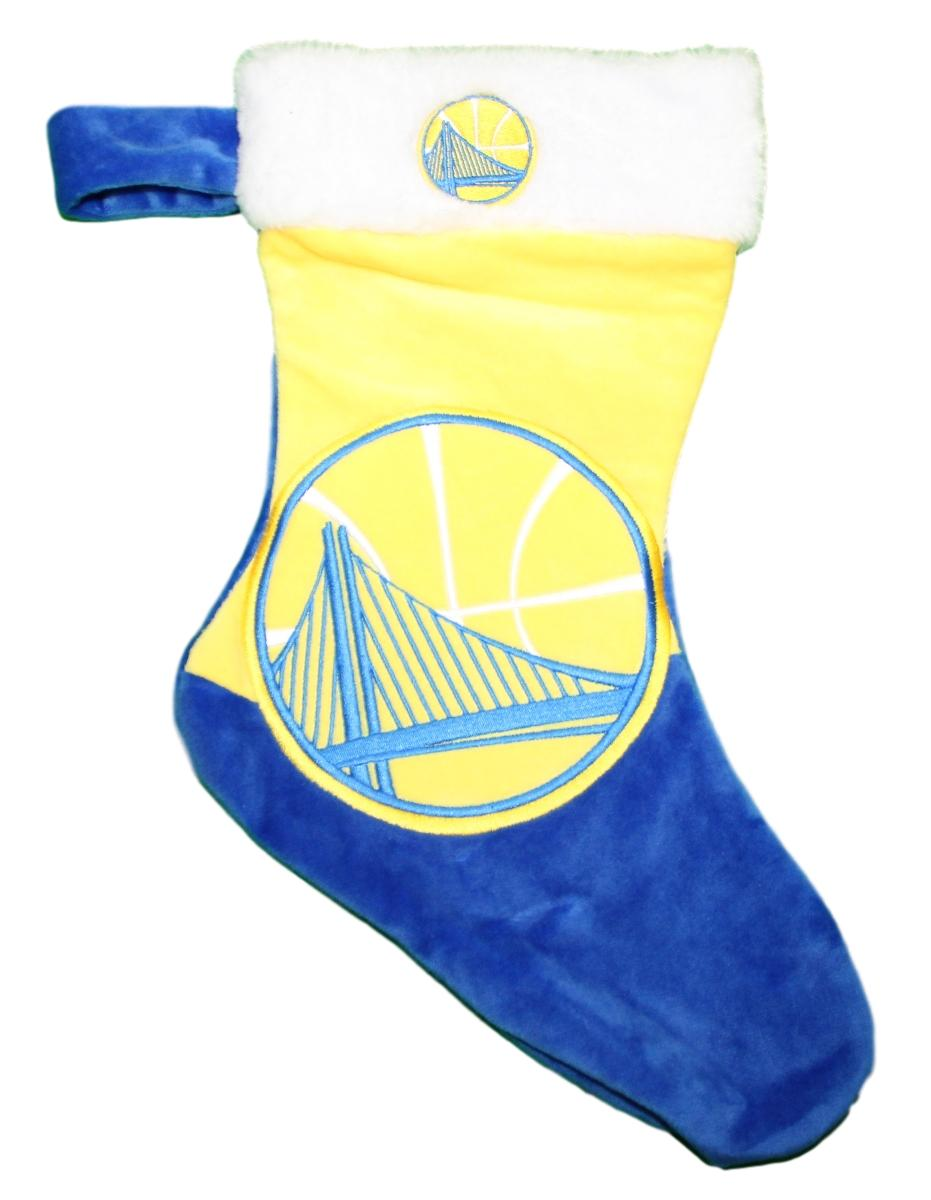 Golden State Warriors 2018 NBA Basic Logo Plush Christmas Stocking
