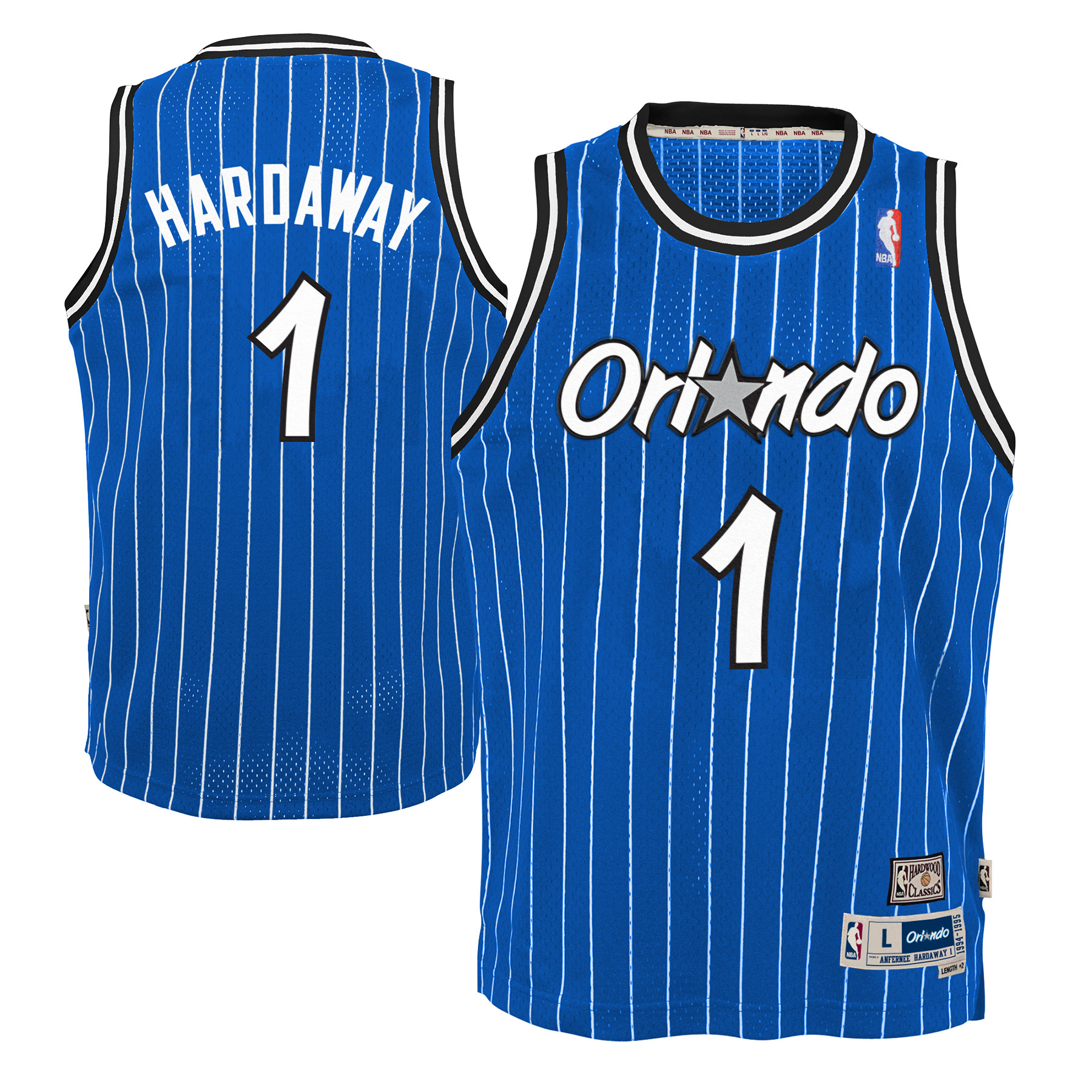 Anfernee Hardaway Orlando Magic NBA Youth Throwback Swingman Jersey - Blue